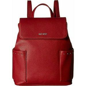 Nine West Saidee Red Fashion Backpack Purse Bag